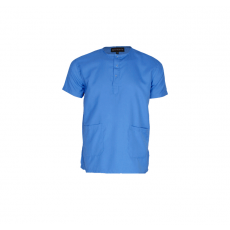 Sky blue men's scrub top