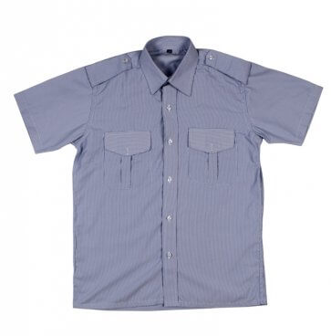 White with blue striped Security Shirt