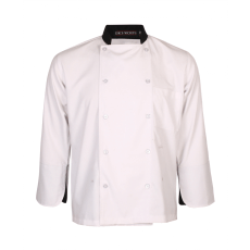 Executive Chef coat - White with Black styling