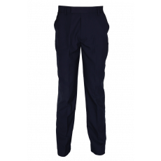 Navy blue trousers with elastic