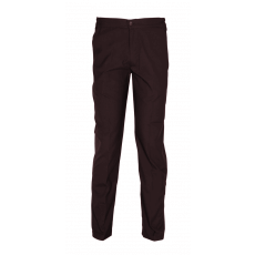 Brown trousers with elastic