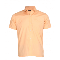 Solid light brown half sleeve shirt