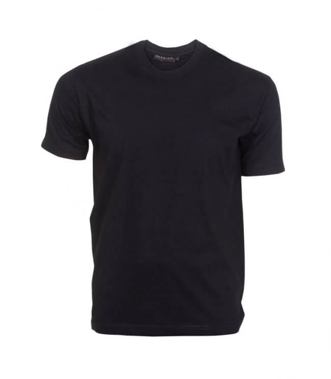 Black Round Neck T-shirt - Round Neck - T Shirts - CORPORATE
