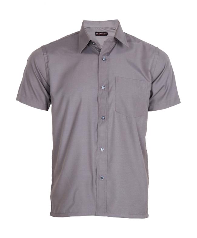 e1f7ded0 Steel grey half sleeve shirt - Economy - Shirts - WORK WEAR