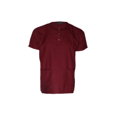 Maroon men's scrub top