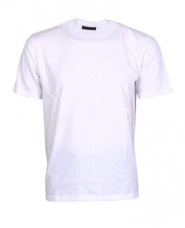 White round neck single jersey t shirt