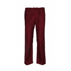 Maroon Unisex scrub pants