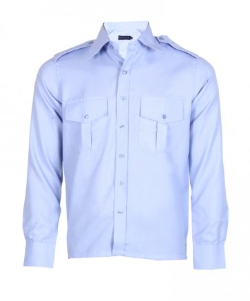 Med  blue structured Security Shirt