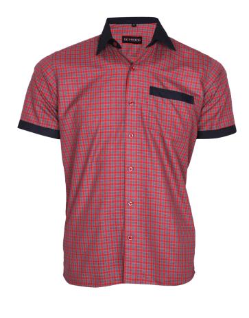 Red checks service shirt