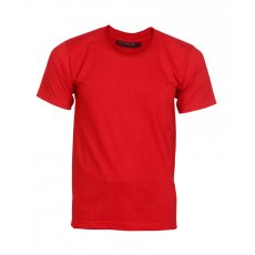 Red round neck single jersey t shirt