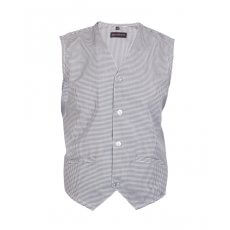 Black with white microcheck Waist Coats