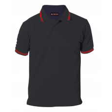 Black polo T. shirt with Red tipping