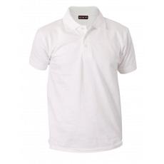 Sparkling white polo pique T. shirt 1