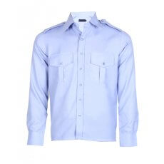 Med  blue structured Security Shirt