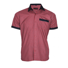 Red checks service shirt