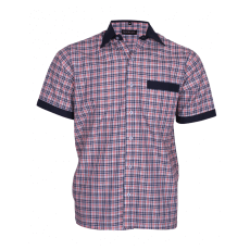 Blue checks service shirt